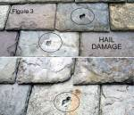 Flagstones damaged